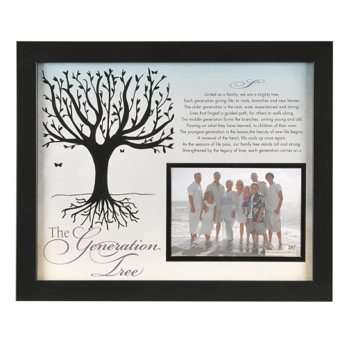 Family Portrait Frame: The Generation Tree Christian 11x14