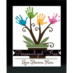 Personalized Handprint Frame: Garden of Love