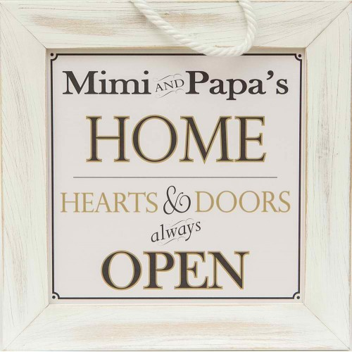 Mimi and Papa Home Sign
