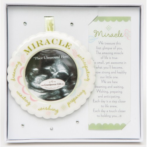 Miracle Ultrasound Ornament: Boxed with Poem