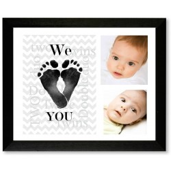 We Heart You: Twin Frame for Footprints