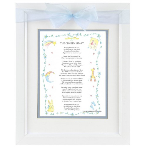 Adoption Frame: Chosen Heart Poem 11x14