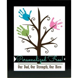 Personalized Family Tree Handprint Frame