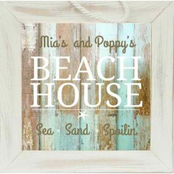 Personalized Grandparent Sign: Beach House