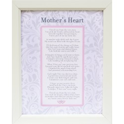 Mother's Heart Poem Vintage Style 11x14