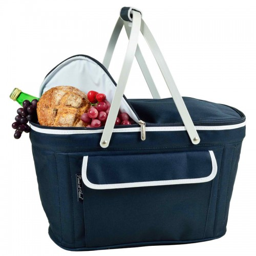 Collapsible Insulated Basket Cooler Navy