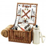Cheshire Basket For 2 W/Coffee Set & Blanket