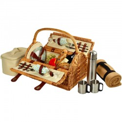 Sussex Picnic Bskt For 2 W/Blkt & Coffee