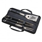 3 Piece Bar-B-Cue Set with a Black Carrying Case