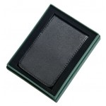 Black Leather Billfold Style Case With Money Clip