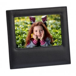 Black Leather Frame Holds