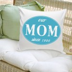 Dad and Mom Stamp Throw Pillow