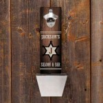 New Personalized Wall Mounted Bottle Opener and Cap Catcher Designs