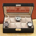 Personalized Men's Leather Watch Case